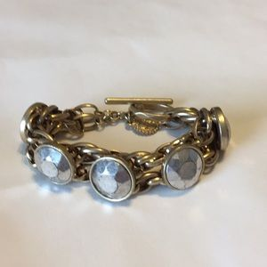Jewelry - SALE! 🛑 Antiqued pewter stone chain link bracelet